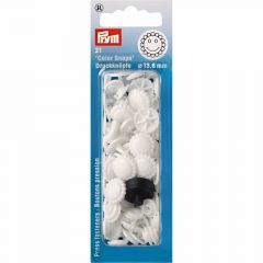 Prym Color Snaps Press Fasteners Flower 13,6 mm whi 5pcs. I