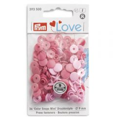 Prym Love press fasteners 9mm - 3x36pcs