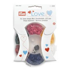Prym Love press fasteners 9mm - 6 colours - 3x72pcs