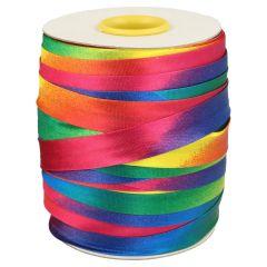 Satin bias binding rainbow 15-20mm - 125-131m
