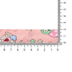 Bias binding with owls 20mm - 20m