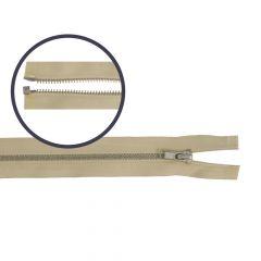 Zipper open-end small 45cm nickel - 5pcs