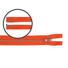 Zipper open-end small 55cm nickel - 5pcs