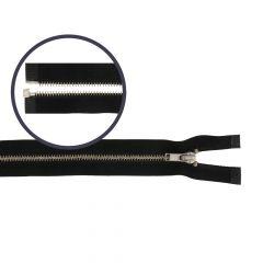 Zipper open-end small 60cm nickel - 5pcs