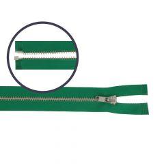 Zipper open-end small 65cm nickel - 5pcs