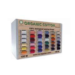 Scanfil Organic Cotton Sew. Thread Display 36col. -5pcs -1p.