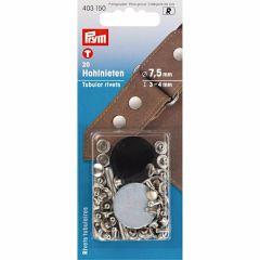 Prym Tubular Rivets thickness 3-9mm MS SIL -5pcs R