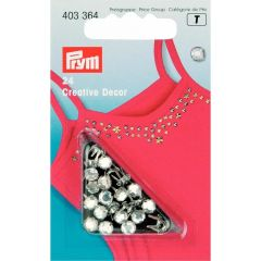 Prym Creative Decor Rivets w. rhinestones 5-7mm - 5pcs.  T