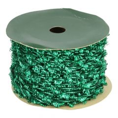 Elastic cord with tinsel, green 2mm - 20m