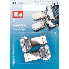 Prym Combi clips 18-30mm Silver col.- 5pcs. S
