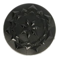 Button Faceted button black - size 24, 32, 36 or 44