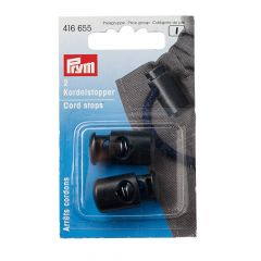 Prym Cord stopper 1-hole black - 5x2pcs
