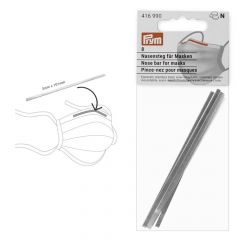 Prym Nose bar for face masks 3x101mm silver - 10x8pcs