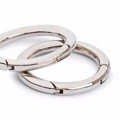 Prym Bag rings 35mm silver/ant. brass - 5pcs.  T