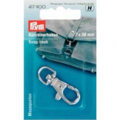 Prym Snap hook 7 x 38 mm Silver/ant. Brass - 5pcs.  H