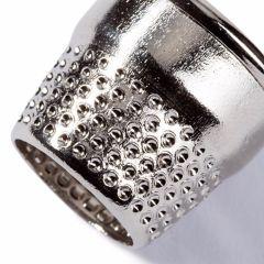 Prym Open Tailor's Thimble Steel Silver col. 16-18mm - 10pcs.