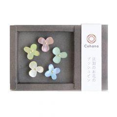 Cohana Flower push pins of oyster shell - 1x5pcs