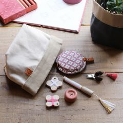 Cohana Accessory pouch waxed canvas 15.5x9cm - 1pc