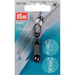 Prym Zipper puller w. ball Steel colored - 5pcs.  M