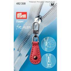 Prym Zipper puller Imitation Leather red - 5pcs. M