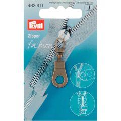 Prym Zipper puller Ring Antique Brass - 5pcs.  K