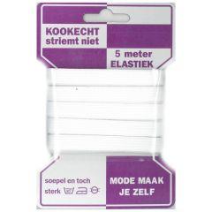 Elastic boil-proof 10mm white - 10x5m