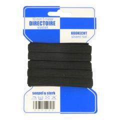 Braided elastic 10mm black - 10x5m