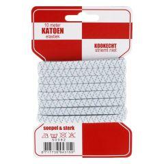 Cotton elastic boil-proof 6mm - 10x10m
