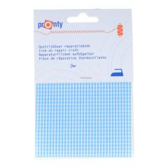 Pronty Iron-on repair patch checked 10x40cm - 5pcs