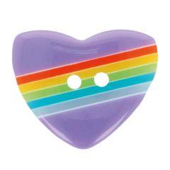 Button heart size 24 - 15mm - 50pcs
