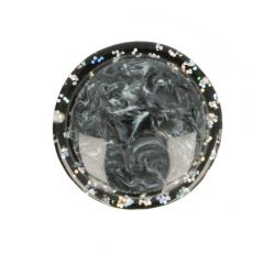 "Button marbled-glitter rim size 24"" - 50pcs"