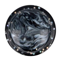 "Button marbled-glitter rim size 28"" - 50pcs"
