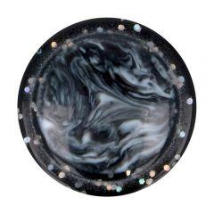 "Button marbled-glitter rim size 36"" - 50pcs"
