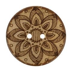 """Button Coconut Lasered star 32""""-70"""" - 30-50pcs"""