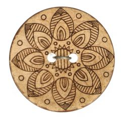 "Button Coconut Lasered star 32""-70"" - 30-50pcs"