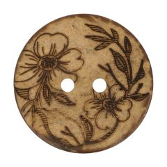 "Button Coconut lasered flower 32""-70"" - 50pcs"