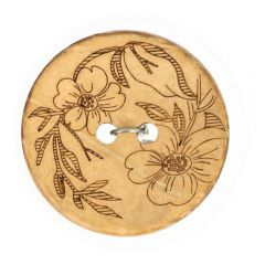 "Button Coconut lasered flower 32""-70"" - 50pcs"
