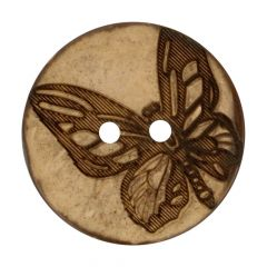 """Button Coconut lasered butterfly 32""""-70"""" - 50pcs"""