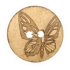 "Button Coconut lasered butterfly 32""-70"" - 50pcs"