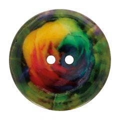 "Button Coconut pink rainbow 32""-64"" - 50pcs"