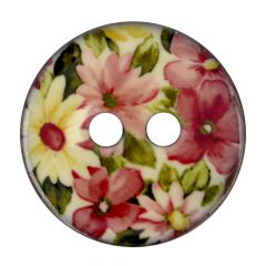 "Button Coconut flower pink-white 32""-64"" - 30-50pcs"