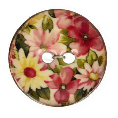 "Button Coconut flower pink-white 32""-64"" - 30-50pcs"
