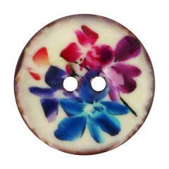 """Button Coconut flower purple-blue 32""""-64"""" - 30-50pcs"""