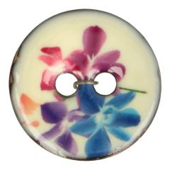 "Button Coconut flower purple-blue 32""-64"" - 30-50pcs"