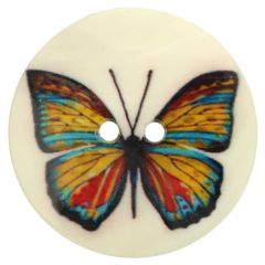 Button mother of pearl butterfly - 20-50pcs