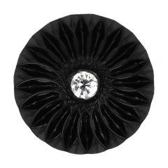 "Button black w. Rhinestones 24""-48"" - 25-50pcs"