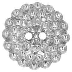 "Button silver daisy 20""-40"" - 30-50pcs"