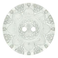 Button transparent silver star - 30-50 pieces