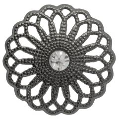 "Button Flower open-work with rhinestone 28""  -  50pcs"