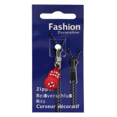 Zipper puller rhinestones - 3pcs
